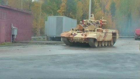 Tank Support Fighting Vehicle Terminator Footage