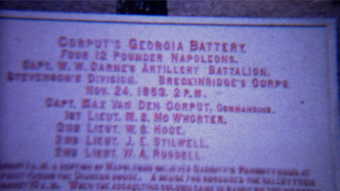 1966: Civil War History Canon Battery Signs Atop Lookout Mountain stock footage