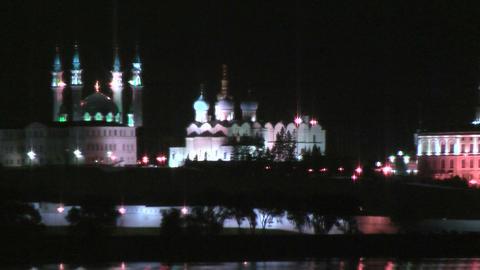 Kazan Kremlin at night time Live Action