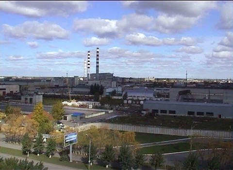 Combined Heat And Power Factory. Tyumen. Russia stock footage