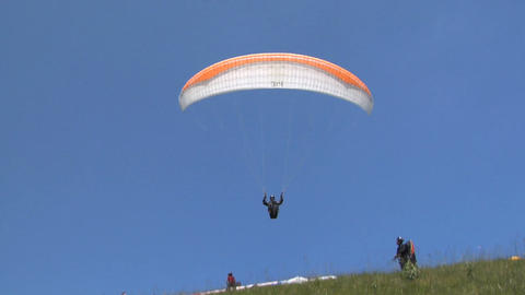 Paragliding take off Footage