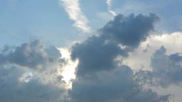cloudy sky - sunset Footage