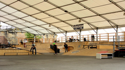 skatepark - young people - skating, scooters and bikes (bmx) Footage