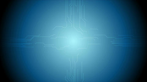 Abstract tech circuit board chip motion design Animation