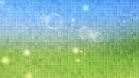 Tech summer nature pixelated mosaic motion design Animation