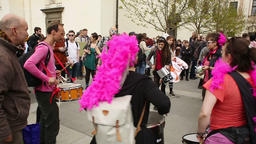 Protest action the band drumming Rhythms of Resistance dance music street Footage