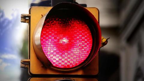 Red Traffic Light Footage