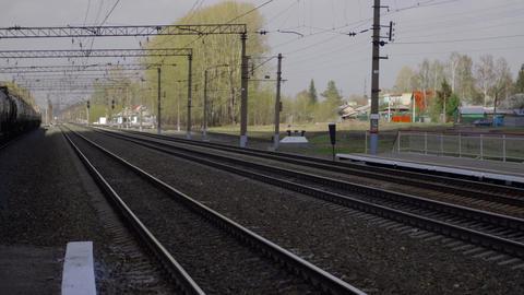Suburban railway station Footage