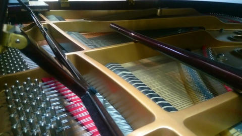 Inside view of piano playing classical or jazz melody, musical improvisation Footage