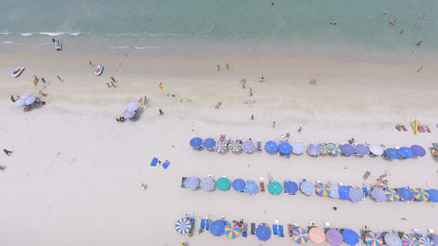 Aerial - long smooth sweep over patong beach Footage
