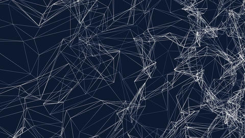 3D shape of morphing mesh texture. Abstract motion graphics Animation