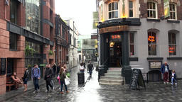 Great Britain England Liverpool 036 beginning of the pub mile Mathew Street Footage