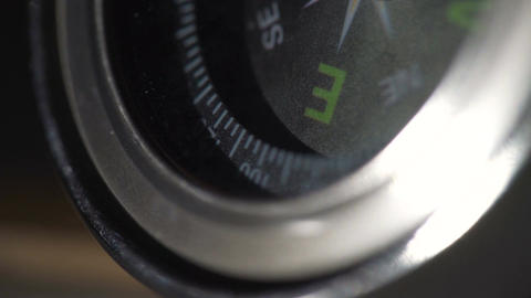 Closeup of compass, navigation accessory for tourism, search for right direction Footage