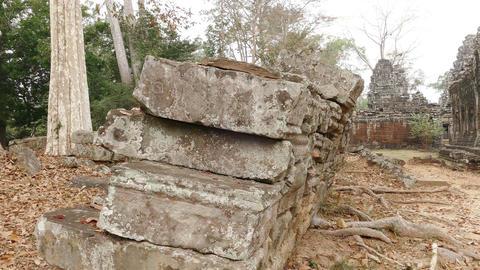 Ancient Angkor Wat Asia Panorama Stones 4K Footage