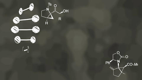 Blackboard chalk chemistry animation Animation