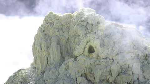 Volcanic Activity, Sulfur Fumarole Footage