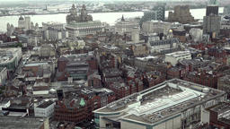 Great Britain England Liverpool 022 city view from St. John's Beacon radio tow Footage