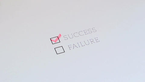 Checklist Success Failure Footage