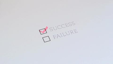 Checklist Success Failure Footage