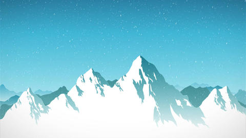 Polygonal Winter Mountain Ranges - Motion Background Animation Animation