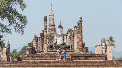 Buddha Statue Chiang Mai Time Lapse 4k Animation