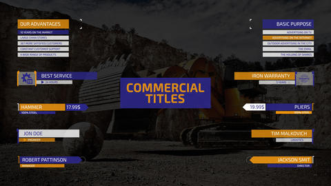 Commercial Titles After Effects Template