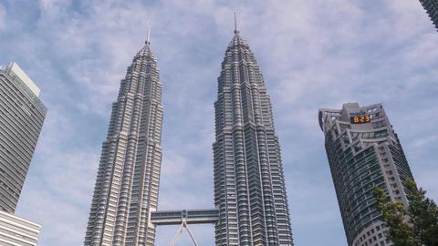 Kuala Lumpur Malaysia Petronas Towers Time Lapse Panorama 4k Animation
