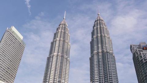 Kuala Lumpur Malaysia Petronas Towers Time Lapse Zoom 4k Animation