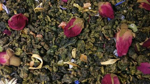 Tea leaves rotating v2 Footage