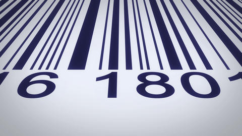 barcode over a white background, scanning by red barcode reader Footage