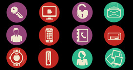 Internet Of Things and Smart Home Concept. Flat Style Animated Icons Animation