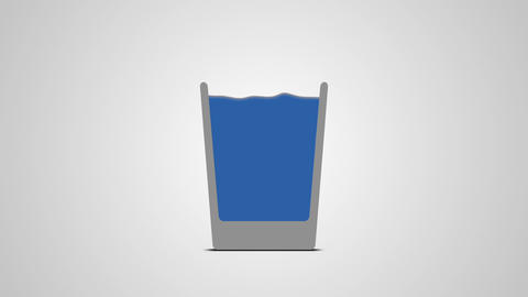 Water is poured into a glass Animation