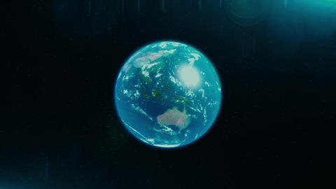 3D Earth Loop Animation