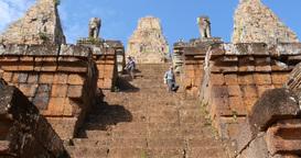 Pre Rup Cambodia Angkor Wat temple ancient ruin buildings complex Footage