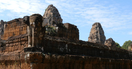 Pre Rup Cambodia Angkor Wat Temple Ancient Ruin Buildings Complex stock footage
