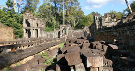 Cambodia Angkor Wat temple ancient ruin buildings Preah Khan GIF