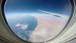 The Eastern Coast Of The Arabian Peninsula From The Window Of An Airliner stock footage