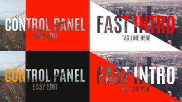 Fast Intro After Effects Template