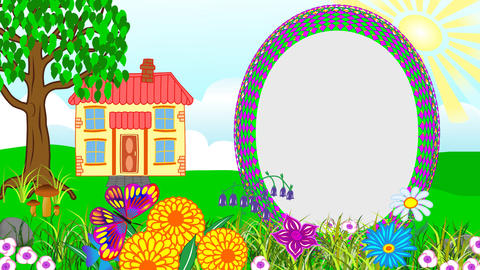 Animated Children's Album (House With A Lawn) Animation