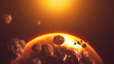Destroyed Planet stock footage