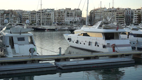 Luxury Yachts In Marine Port stock footage