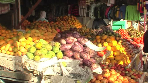 fruit stall on market Live Action