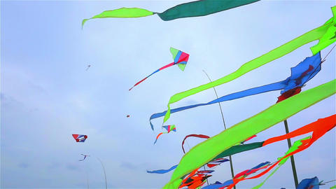 Kite shop in Thailand Footage