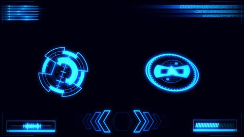 Blue Digital HUD Navigation Interface Display Graphic Element Animation