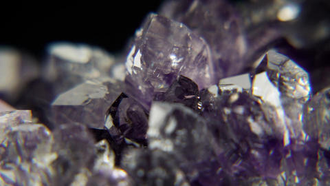 Geode Crystal Macro Footage