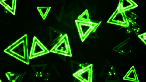 Green Glowing Triangles Animation Background Backdrop Animation