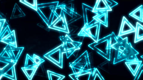 Blue Glowing Triangles Animation Background Backdrop Animation