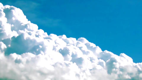 Fluffy Clouds Cumulus Cloudscape With Blue Sky TimeLapse Live Action