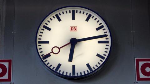 Deutsche Bahn Clock in Frankfurt Airport Station Footage