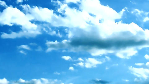 TimeLapse of the Sky Full of Clouds Background Backdrop ビデオ